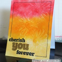 Paper craft project no. 208: Cherish you forever one layer card [with video tutorial]