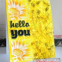 Paper craft project 225: Hello you one layer mixed media card