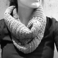 Grey cowl scarf