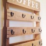 Diy Pallet Coffee Cup Holder One Little Bird Blog