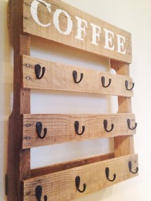 Diy Pallet Coffee Cup Holder Little Bird
