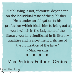 Max Perkins quote