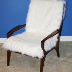 Reupholstering A Chair Cushions For Chairs Easy Alternative To Danish Teak With Foax Fur