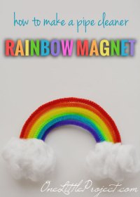 How to Make a Pipe Cleaner Rainbow Magnet | Pipe Cleaner ...