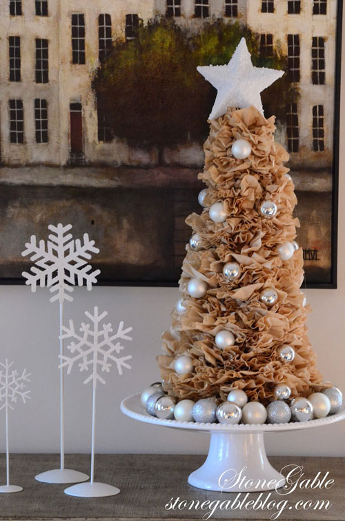 20 Beautiful Coffee Filter Crafts - Coffee Filter Christmas Tree
