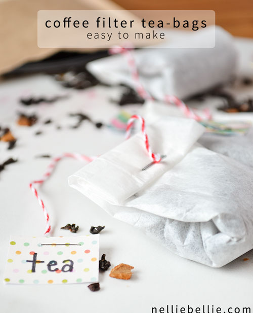 20 Beautiful Coffee Filter Crafts - DIY tea bags from coffee filters