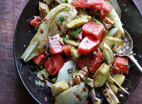 50+ Best Recipes for Fresh Watermelon - Grilled Watermelon and Fennel Salad
