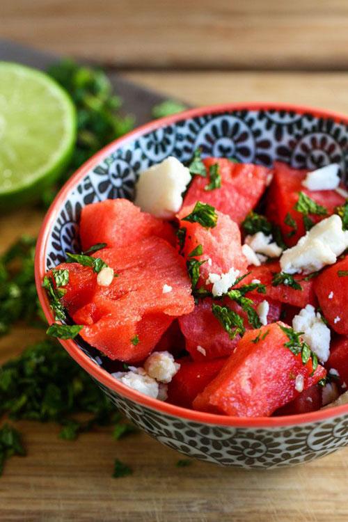 50+ Best Recipes for Fresh Watermelon - Watermelon Feta Salad