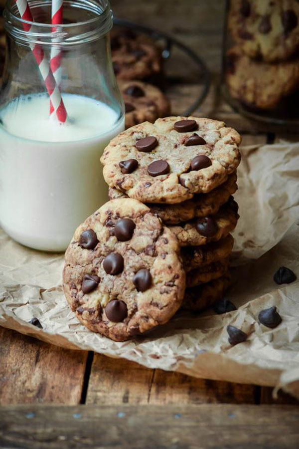 50+ Best Cookie Recipes - Browned Butter Chocolate Chip Cookies