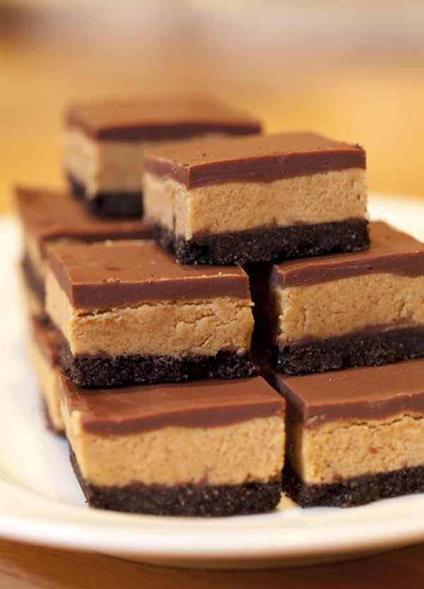 50+ Best Squares and Bars Recipes - Chocolate Peanut Butter Squares
