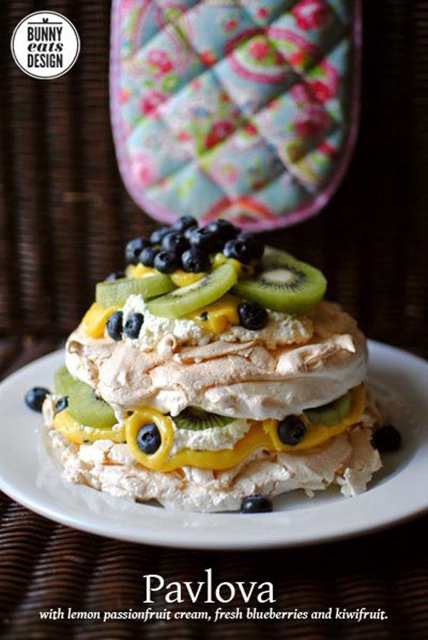 50+ Best Kiwi Recipes - Double Layer Kiwi Pavlova