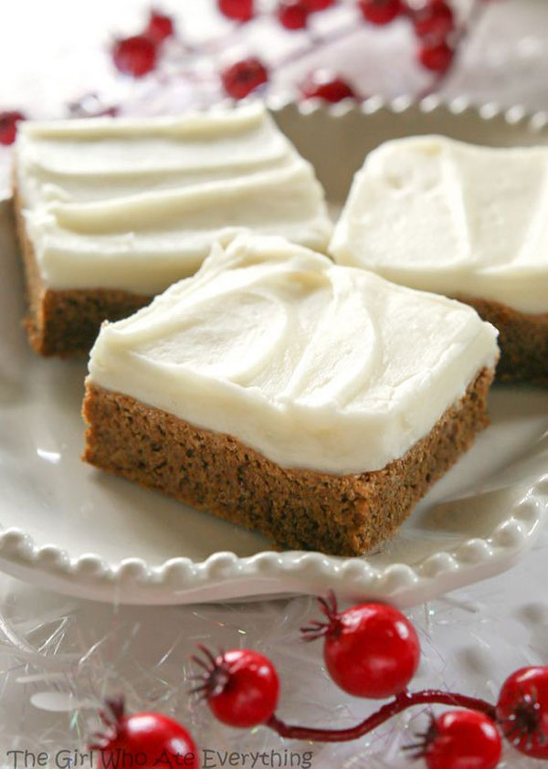 50+ Best Squares and Bars Recipes - Gingerbread Cookie Bars