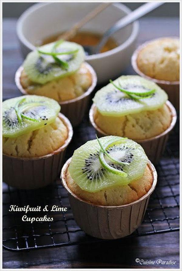 50+ Best Kiwi Recipes - Kiwifruit & Lime Cupcakes