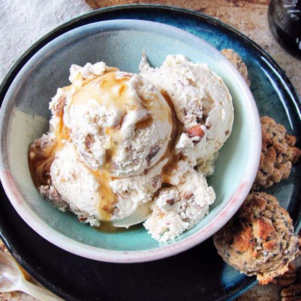 50+ Best Ice Cream Recipes - Maple Bacon Pecan Ice Cream