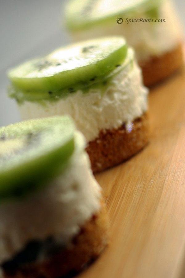 50+ Best Kiwi Recipes - No Bake Kiwi Cheesecake