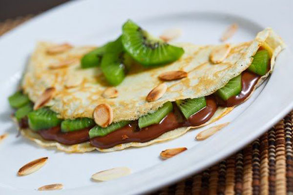 50+ Best Kiwi Recipes - Nutella and Kiwi Crepes