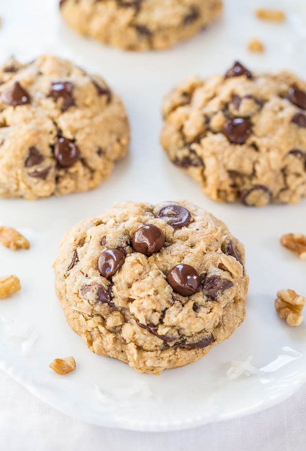 50+ Best Cookie Recipes - Loaded Oatmeal Chocolate Chip Cookies