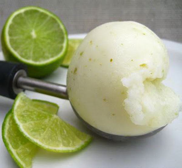 50+ Best Ice Cream Recipes - Smooth Homemade Lime Sorbet