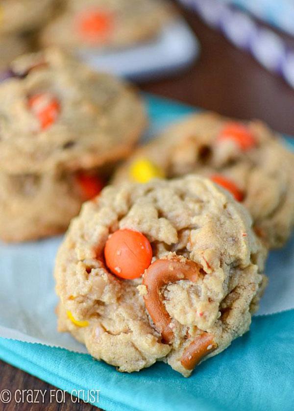 50+ Best Cookie Recipes - Toffee Pretzel Peanut Butter Cookies