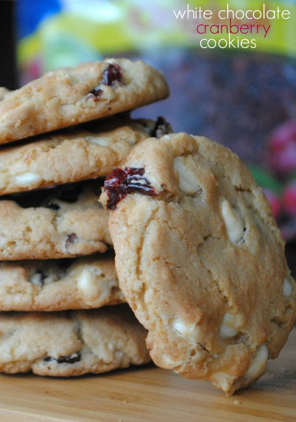 50+ Best Cookie Recipes - White Chocolate and Cranberry Cookie