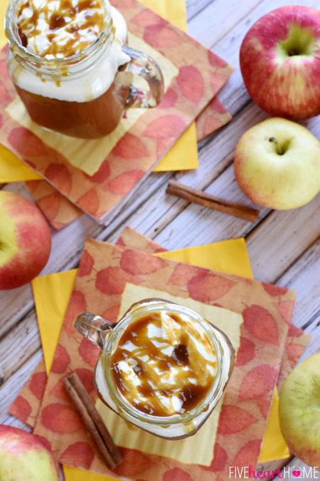 50+ Homemade Starbucks Recipes - Caramel Apple Cider