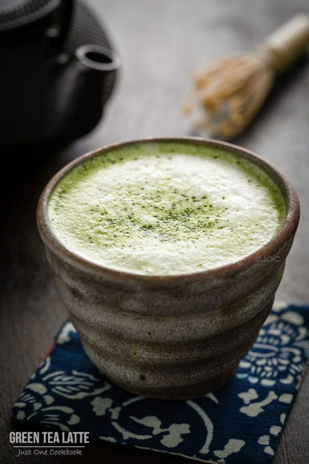 50+ Homemade Starbucks Recipes - Green Tea Latte