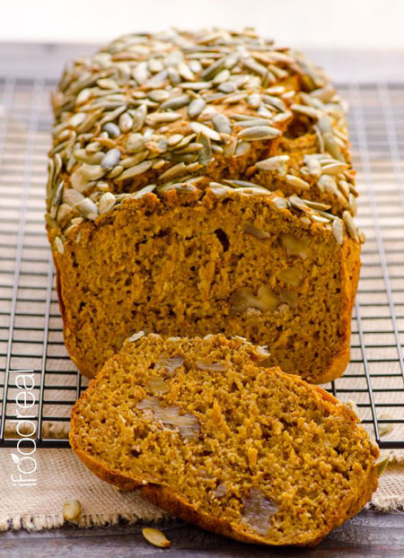 50+ Homemade Starbucks Recipes - Moist Skinny Pumpkin Bread