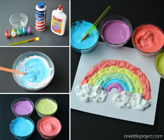 This Puffy Paint Recipe Was Such A Fun And Easy Craft For The Kids To Do