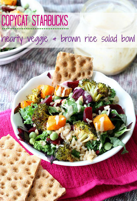 50+ Homemade Starbucks Recipes - Starbucks Hearty Veggie &-Brown Rice Salad Bowl