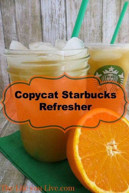 50+ Homemade Starbucks Recipes - Valencia Orange Refresher Recipe