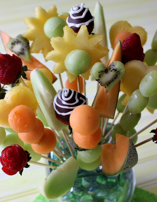 50+ Food on a Stick Lunch Ideas - Fruit Bouquet
