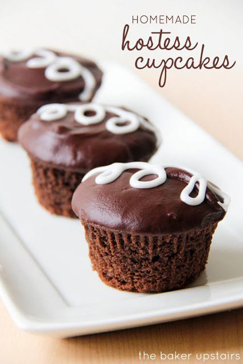 30+ Foods You Can Make Yourself - Homemade Hostess Cupcakes