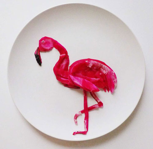 50+ Kids Food Art Lunches - Flamingo Dragon Fruit