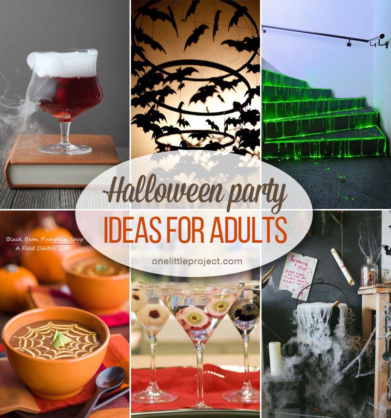 Create an adorable halloween centerpiece with candy, paper bake cups, and a cake stand. 34 Inspiring Halloween Party Ideas For Adults