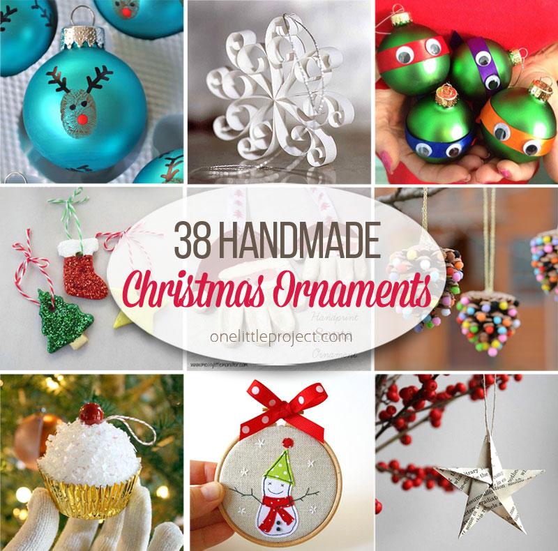 38 Easy Handmade Christmas Ornaments