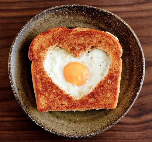 30+ Healthy Valentine's Day Food Ideas - Valentine's Day Egg in a Basket