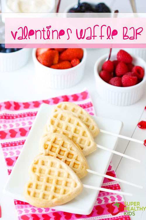 30+ Healthy Valentine's Day Food Ideas - Valentine's Waffle Bar