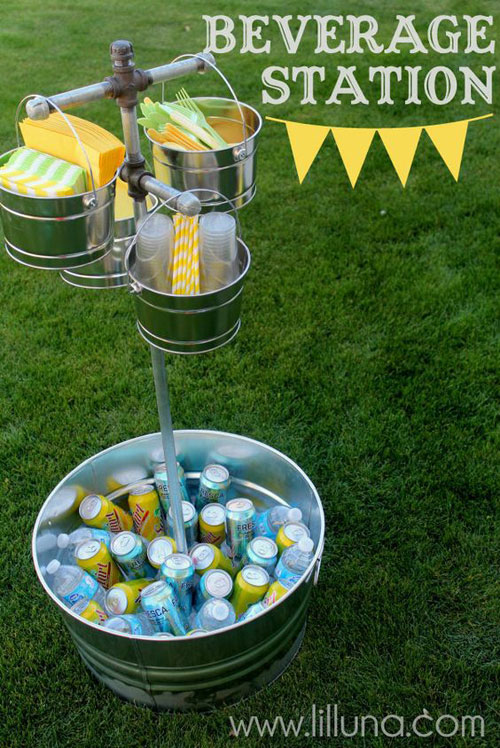 37 Awesome DIY Summer Projects - Beverage Station