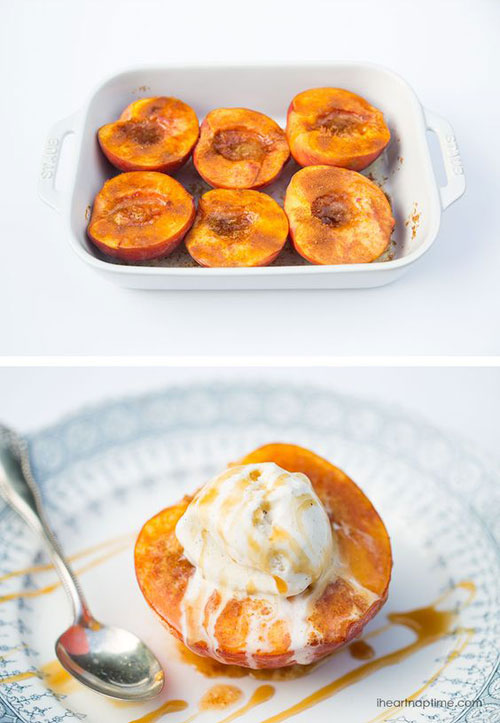 50+ Best Peach Recipes - Baked Peaches