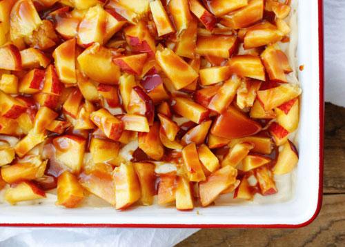 50+ Best Peach Recipes - No-Bake Peach Pretzel