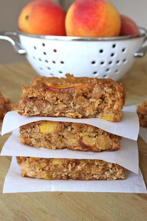 50+ Best Peach Recipes - Peach Oatmeal Bars