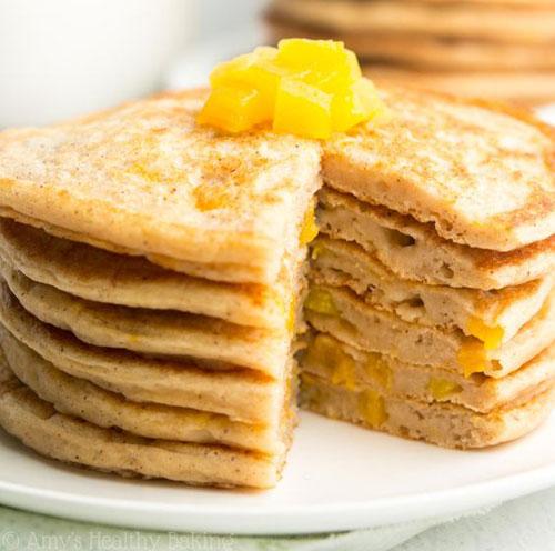 50+ Best Peach Recipes - Peach Pie Pancakes