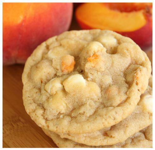 50+ Best Peach Recipes - Peaches and Cream Oatmeal Cookies