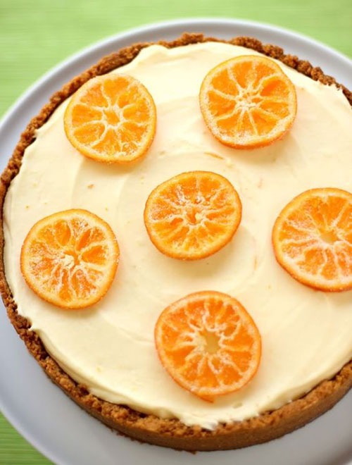 50+ Best Recipes for Fresh Clementines - Clementine Mousse Cheesecake
