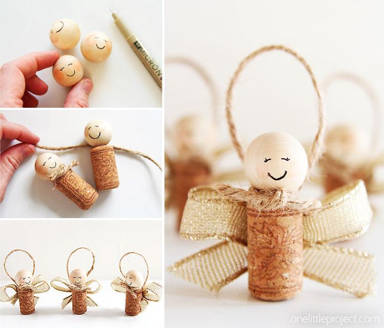 How To Make Wine Cork Angels Wine Cork Angel Ornaments