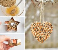 How to Make Birdseed Ornaments   Easy Birdseed Ornaments ...