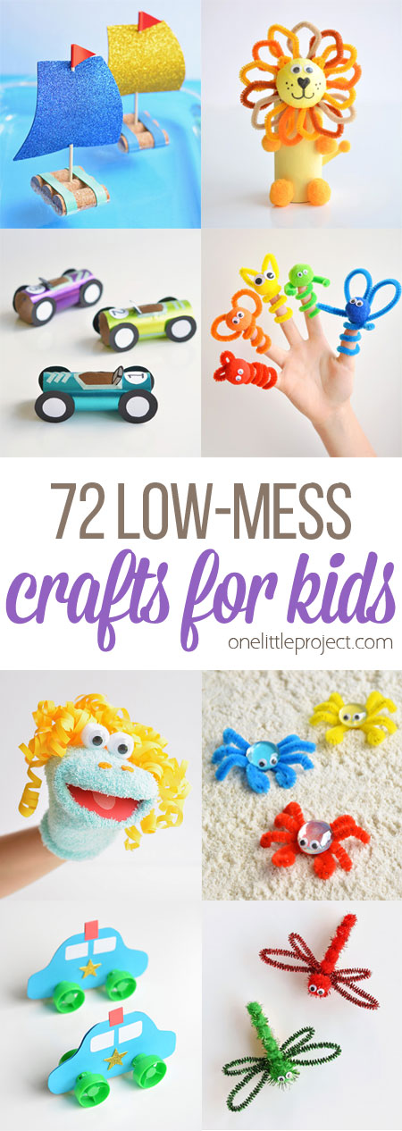 Low Mess Crafts For Kids Book One Little Project