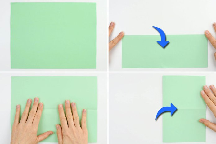 How to make a paper boat - step 1