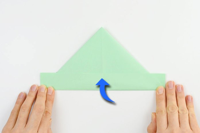 How to make a paper boat - step 6