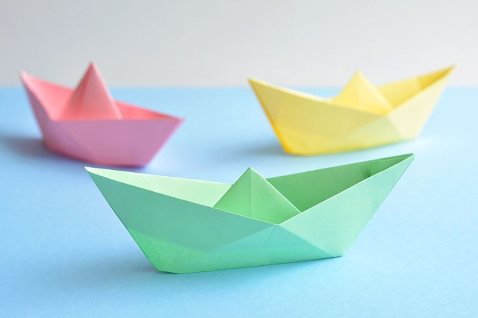 Finished Paper Boats